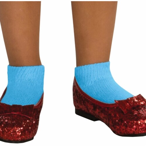 Morris Costumes RU79910MD Dorothy Sequin Shoes Child Costume, Medium Perspective: front