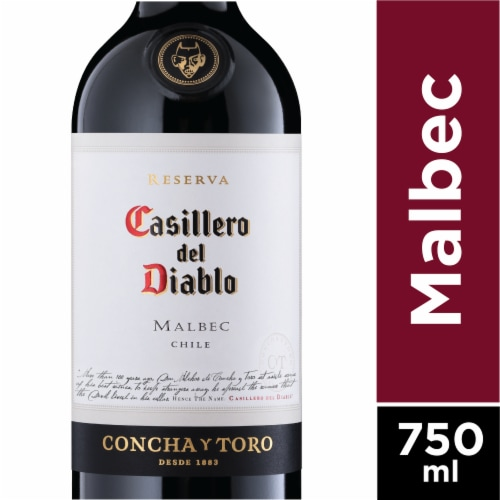 Casillero del Diablo Malbec Red Wine Perspective: front