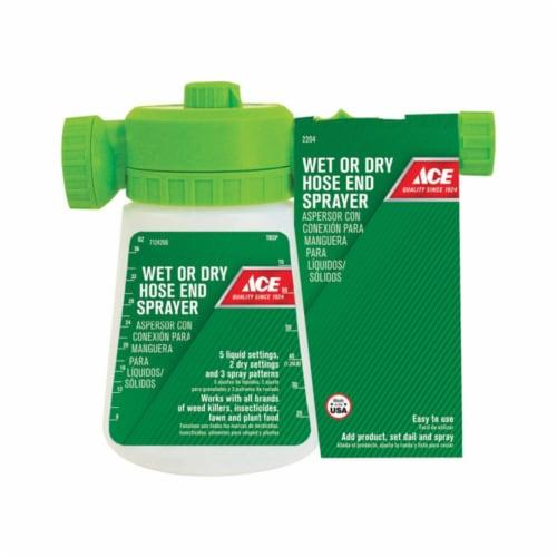 Hudson Wet/Dry Adjustable Spray Tip Hose End Sprayer 50 oz. - Case Of: 1 Perspective: front