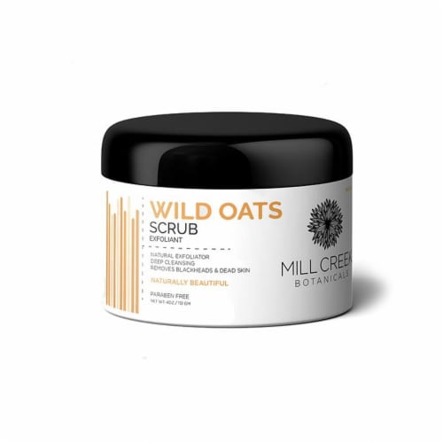 Mill Creek Botanicals Wild Oats Scrub - 4 oz Perspective: front