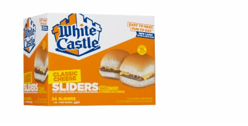 White Castle Cheese Sliders Cheeseburgers Perspective: front