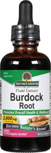 Nature's Answer Burdock Root Herbal Supplement 1350mg Perspective: front