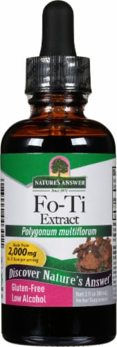 Nature's Answer Fo-Ti Herbal Supplement 2000mg Perspective: front