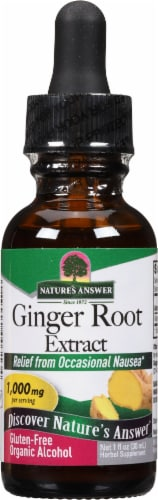 Nature's Answer Ginger Herbal Supplement 250mg Perspective: front