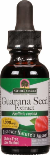 Nature's Answer Guarana Herbal Supplement 1000mg Perspective: front