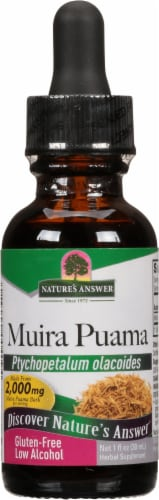 Nature's Answer Muira Puama Herbal Supplement 2000mg Perspective: front