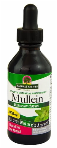 Nature's Answer Mullein Herbal Supplement 2000mg Perspective: front