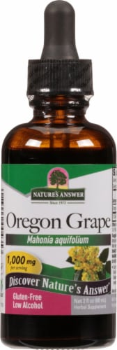 Nature's Answer Oregon Grape Herbal Supplement 1000mg Perspective: front