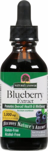 Nature's Answer Blueberry Herbal Supplement 1000mg Perspective: front