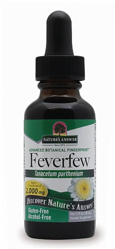 Nature's Answer Feverfew Herbal Supplement 2000mg Perspective: front