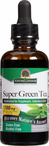 Nature's Answer Super Green Tea Extract 100 mg Perspective: front