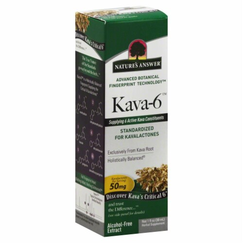 Nature's Answer Kava-6 Herbal Supplement 50mg Perspective: front