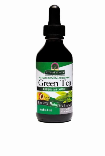 Nature's Answer Green Tea Herbal Supplement Perspective: front