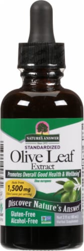 Nature's Answer Olive Leaf Herbal Supplement 1500mg Perspective: front