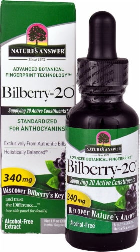 Nature's Answer Bilberry-20 Liquid Extract 340mg Perspective: front