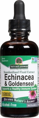 Nature's Answer Echinacea Goldenseal Herbal Supplement 1000mg Perspective: front
