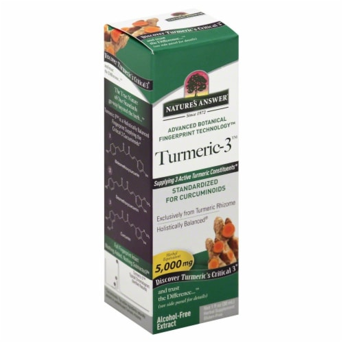 Nature's Answer Turmeric-3 Extract 5000mg Perspective: front