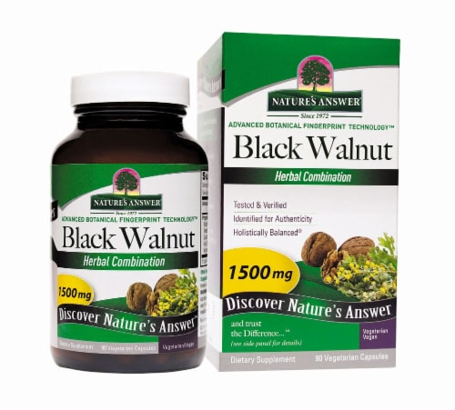 Nature's Answer Black Walnut Complex Vegetarian Capsules Perspective: front
