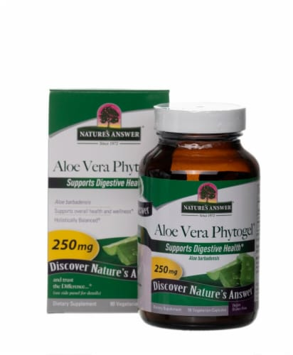 Nature's Answer Aloe Vera Phytogel™ Vegetarian Capsules 250mg Perspective: front