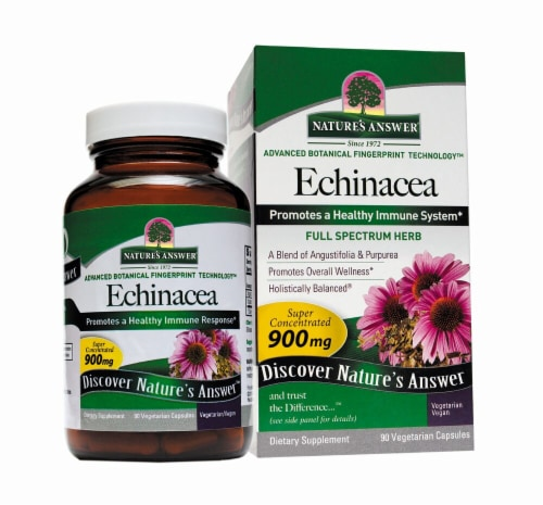 Nature's Answer Echinacea Vegetarian Capsules 900mg Perspective: front