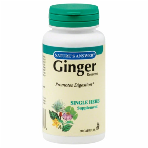 Nature's Answer Ginger Rhizome Capsules Perspective: front