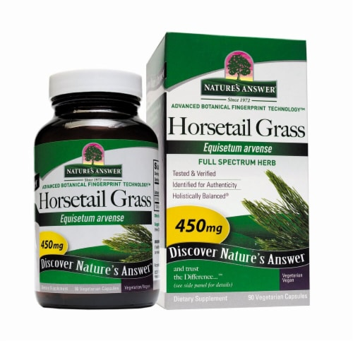Nature's Answer Horsetail Grass Vegetarian Capsules 450mg Perspective: front