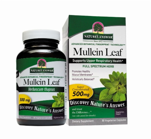Nature's Answer Mullein Leaf Capsules 500mg Perspective: front