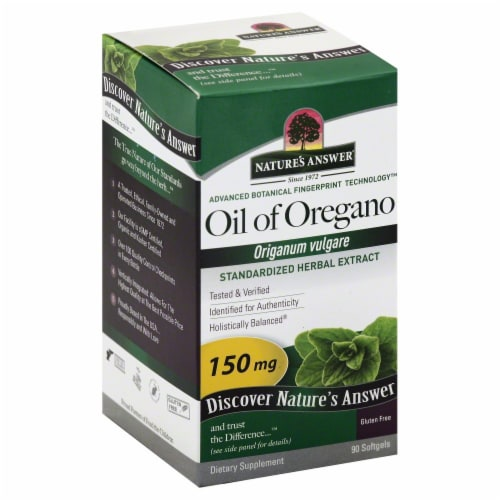 Nature's Answer Oil of Oregano Softgels 150mg Perspective: front