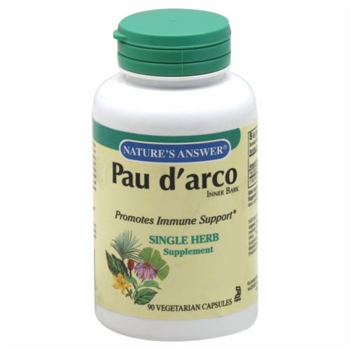Nature's Answer Pau d' arco Capsules Perspective: front