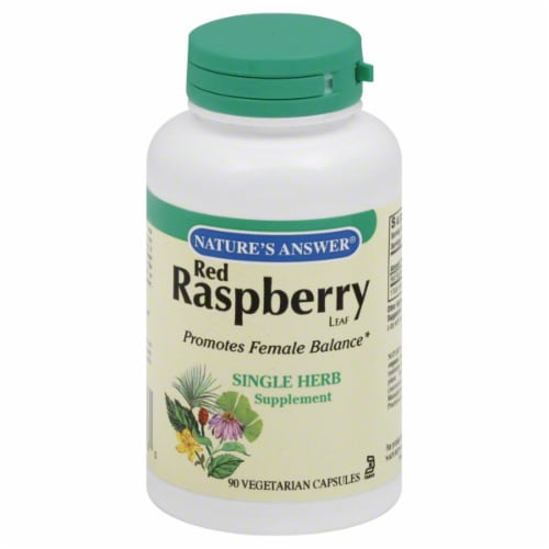 Nature's Answer Red Raspberry Leaf Supplement Perspective: front