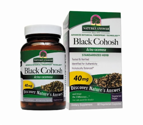Nature's Answer Black Cohosh Root Vegetarian Capsules 40mg Perspective: front