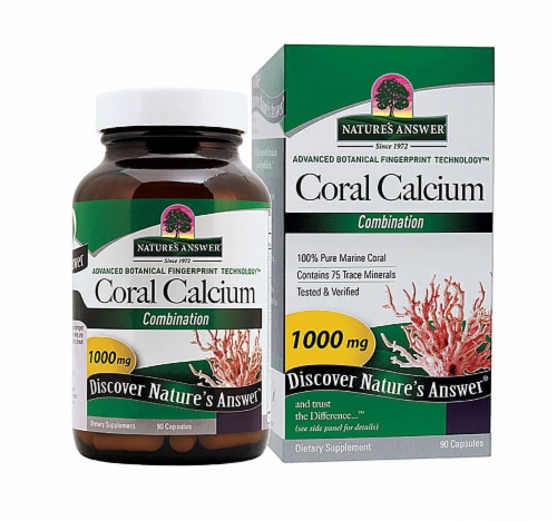 Nature's Answer Coral Calcium Supreme Capsules 1000mg Perspective: front
