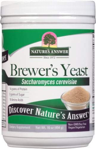 Nature's Answer Brewer's Yeast Dietary Supplement Perspective: front
