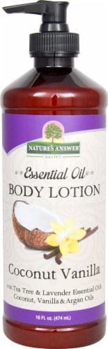 Nature's Answer Essential Oil Coconut Vanilla Body Lotion Perspective: front