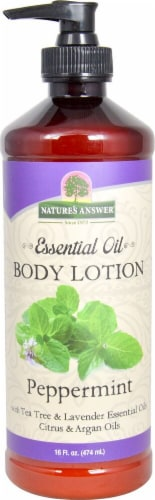 Nature's Answer Essential Oil Peppermint Body Lotion Perspective: front