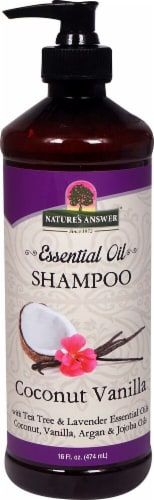 Nature's Answer Essential Oil Coconut Vanilla Shampoo Perspective: front