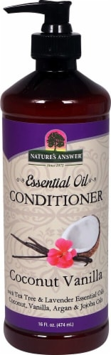 Nature's Answer Essential Oil Coconut Vanilla Conditioner Perspective: front