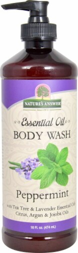 Nature's Answer Essential Oil Peppermint Body Wash Perspective: front