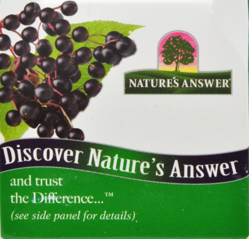 Natures Answer Sambucus Kids Formula Dietary Supplement 4000mg Perspective: front