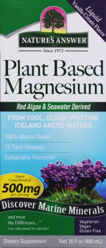 Nature's Answer Plant Based Magnesium 500 mg Dietary Supplement Perspective: front