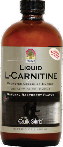 Nature's Answer Liquid Carnitine Dietary Supplement Perspective: front