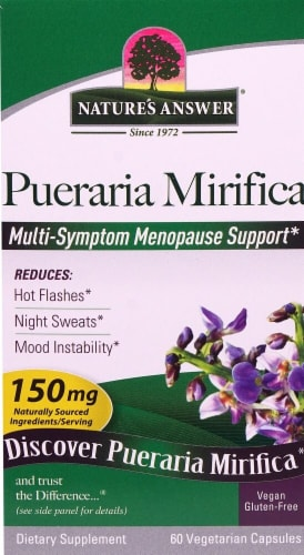 Nature's Answer  Pueraria Mirifica Multi-Symptom Menopause Support 150mg Perspective: front