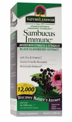 Nature's Answer Black Elderberry Extract Sambucus Immune Supplement Perspective: front