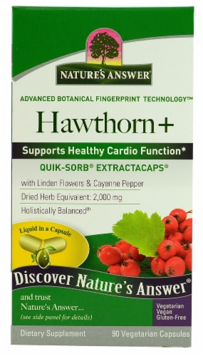 Nature's Answer  Hawthorne+ Dietary Supplement Perspective: front