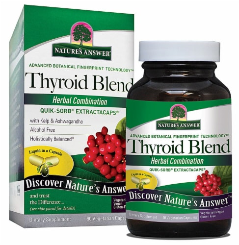 Nature's Answer Thyroid Blend Vegetarian Capsules Perspective: front