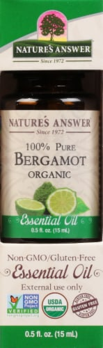 Nature's Answer Bergamot Essential Oil Perspective: front