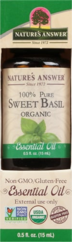 Nature's Answer Sweet Basil Essential Oil Perspective: front