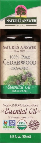 Nature's Answer Cedarwood Essential Oil Perspective: front
