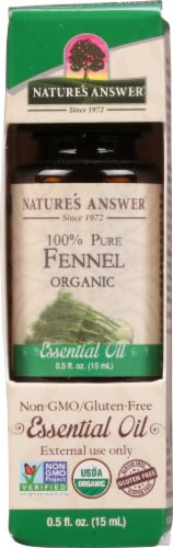 Nature's Answer Fennel Essential Oil Perspective: front