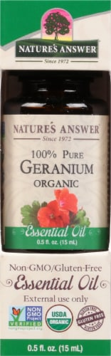 Nature's Answer Geranium Essential Oil Perspective: front